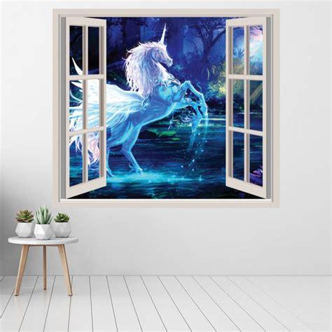 unicorn  window wall sticker fairytale fantasy wall