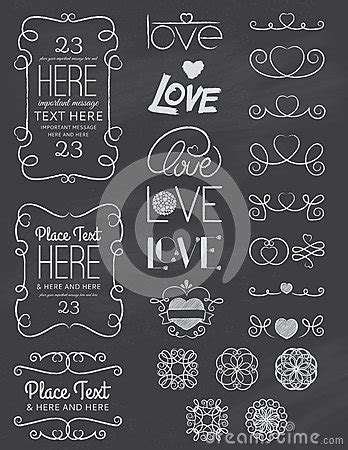 design elements type chalkboard love design elements two stock vector image