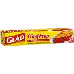 plastic wrap glad cling wrap clear plastic wrap 200 sq ft