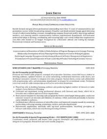 Relations Resume Exles by Top Relations Resume Templates Sles