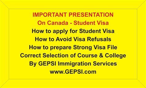 Canada Study Visa Process student visa process for canada