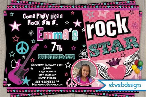 rock star birthday party invitations dolanpedia invitations template