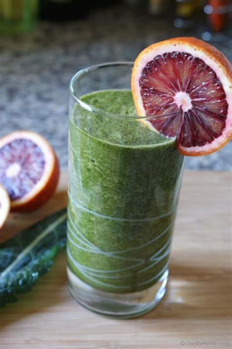 Blood Sugar Detox Smoothie by Blood Orange And Kale Cleanse Smoothie Recipe Chefdehome
