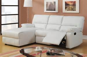 Reclining Chaise Sofa Poundex Modern Color Bonded Leather Reclining Sofa W Chaise