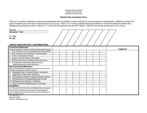 employee performance review form peer templates