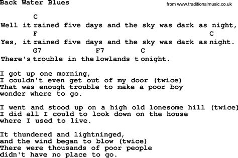 back water blues top 1000 folk and time songs collection back water