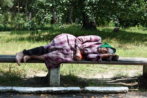 homeless bench ukraine on july 13th 2010 the homeless sleeps on a