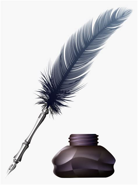 transparent inkwell clipart ink feather  png png