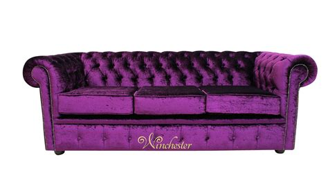 purple velvet couch vintage chesterfield 3 seater settee boutique purple velvet sofa offer
