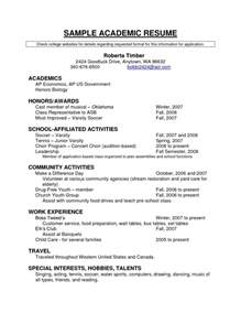 latest resume format academic resume templates