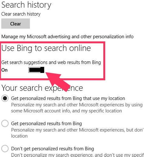 how to disable bing web results in windows 10 s search how to disable bing search from search bar in windows 8