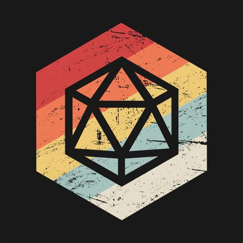 D20 Roleplaying retro 70s d20 icon roleplaying d20 tapestry