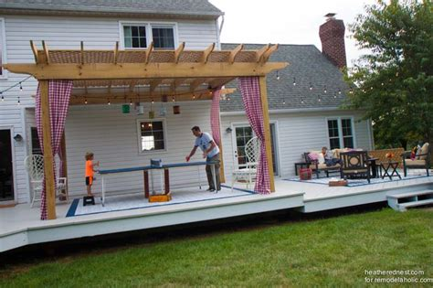 How To Make Your Backyard by Remodelaholic Diy Pergola Tutorial How To Build Your