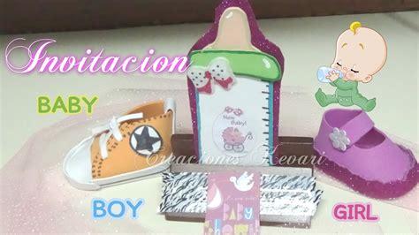 invitaciones de fomi de la invitaci 243 n biber 243 n foamy para baby shower how to make baby shower invitations