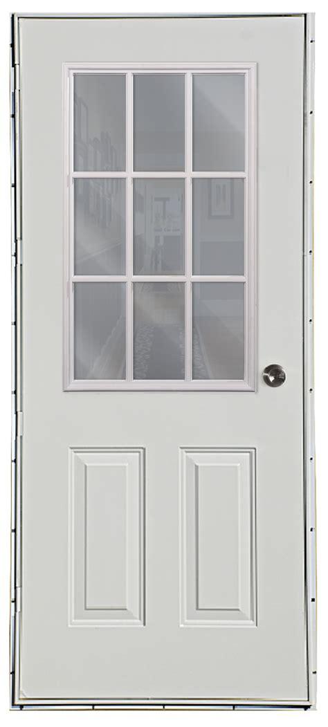 left outswing exterior door six panel 9 lite outswing door american mobile home supply