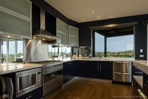 innovative kitchen ideas modern blue kitchen cabinets pictures design ideas