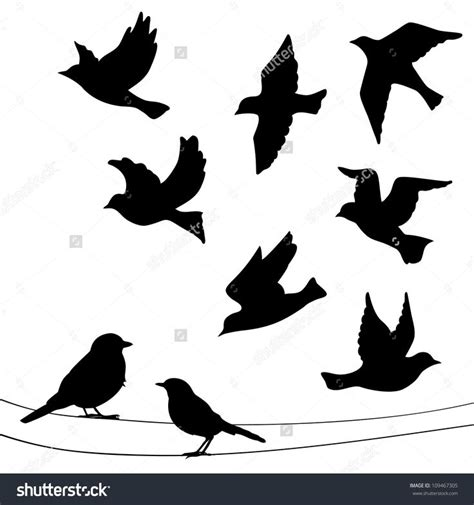 bird silhouette tattoo flying bird silhouette