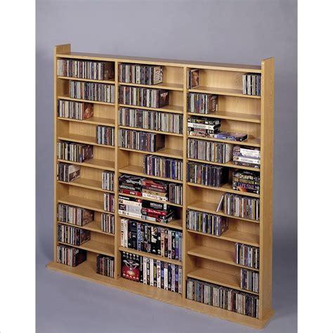 leslie dame deluxe cd dvd media storage wall unit rack oak