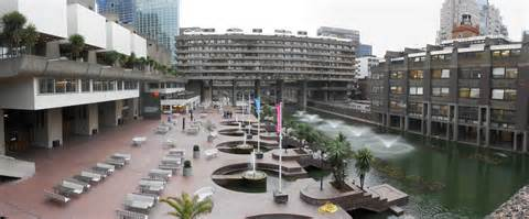 Flat Architecture by Barbican Centre Roundabout London