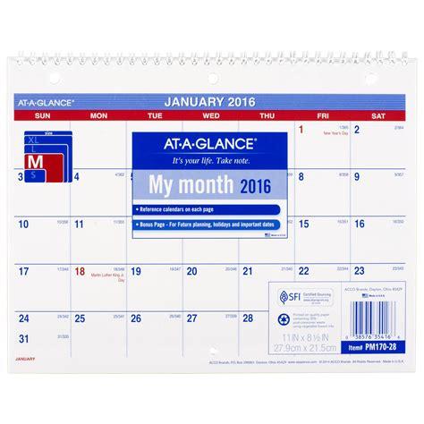 8 x 11 desk calendar amazon com at a glance monthly desk wall calendar 2016