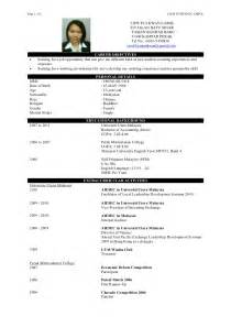 Best Resume Templates Malaysia by Resume Liew Pui Kwan