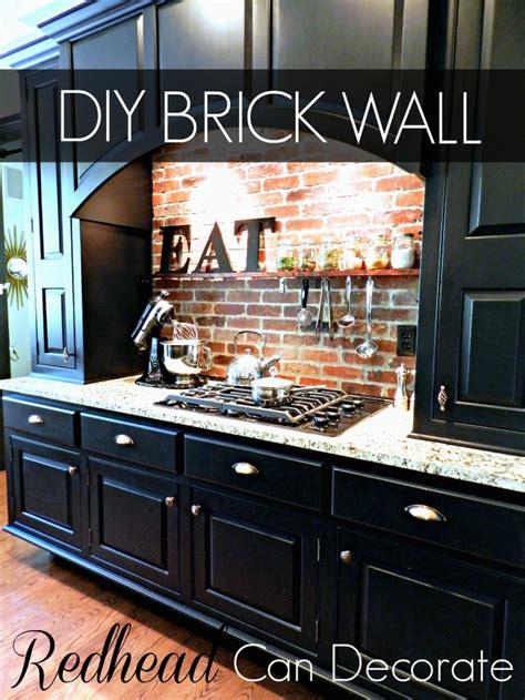 brick kitchen backsplash diy brick backsplash can decorate