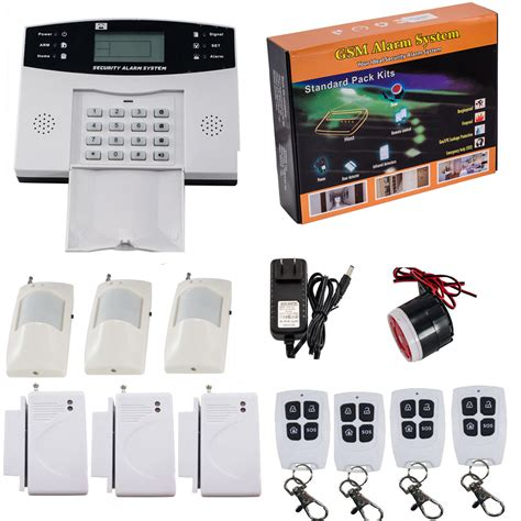 gsm sms wireless wired voice home house alarm security