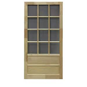 Diy 36 in natural wood screen door lowe s canada