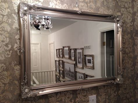 large shabby chic mirror x large antique silver shabby chic ornate decorative wall