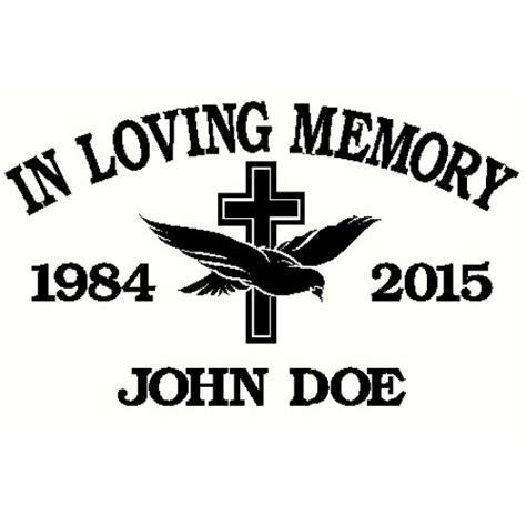 in loving memory cross dove decal