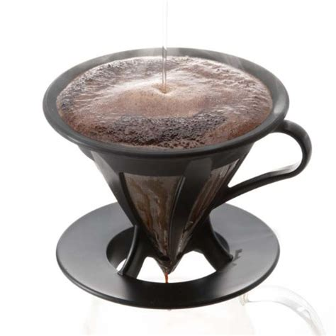 Hario Cafeor Dripper 02 Black Cfod 02b Diskon hario cafeor stainless steel coffee dripper size 02