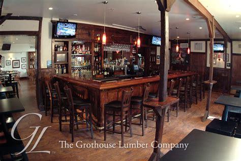 mahogany bar top mahogany wood bar top with chicago bar rail in yardley pa
