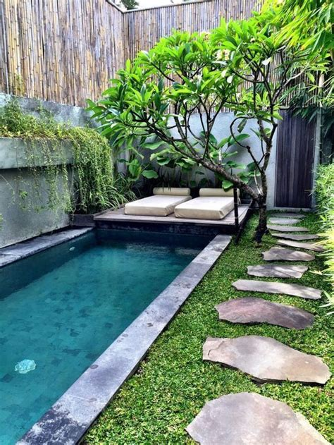 small sloped backyard best 25 small backyard pools ideas on pinterest small