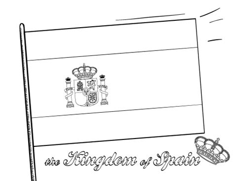 spain flag free coloring pages