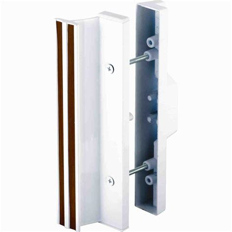 Sliding Glass Door Handles Prime Line Patio Door Handle Set With Wooden Handle C 1204 The Home Depot