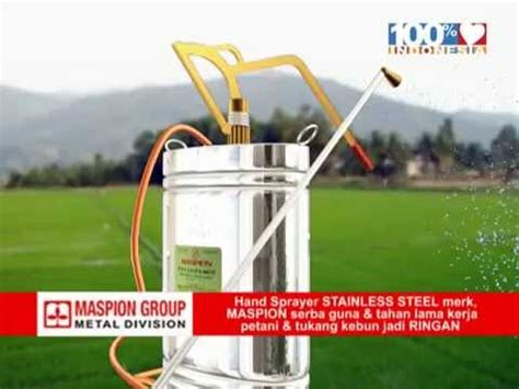 Sprayer Maspion iklan sprayer metal division logam jawa maspion