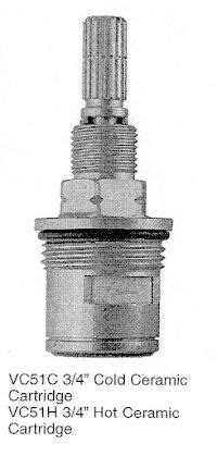 Rei Plumbing by Vc51c H 3 4 Inch High Flow Ceramic Dual Stems Per