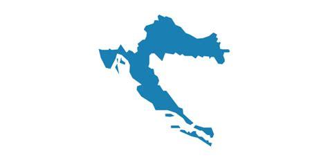 croatia map vector europe vector stencils library