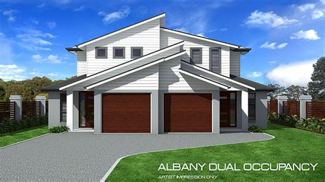 Doublewide Floor Plans by Albany Double Storey Duplex Home Design Tullipan Homes