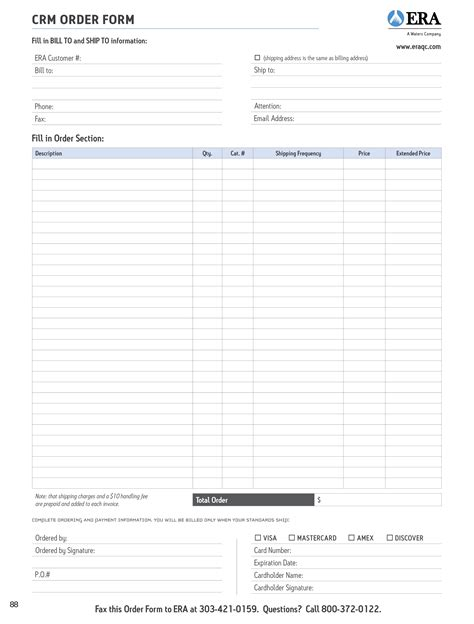 trade show order form template images templates design ideas