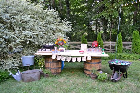 Backyard Engagement by Bridal Showers Archives Mid South