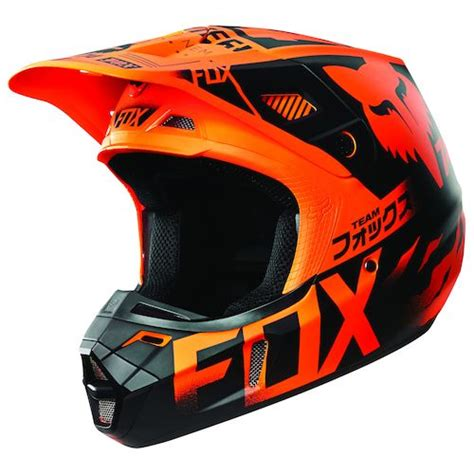 Helm Kyt Cross Verboden Black Orange fox racing v2 union helmet revzilla