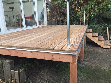 terrasse kaufen erh 246 hte terrasse aus bangkirai mit holztreppe und
