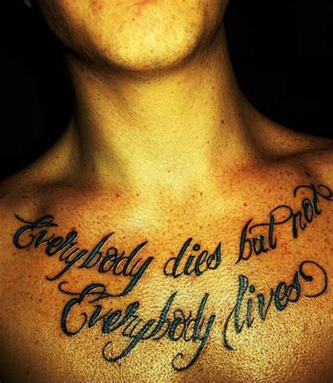 41 Quotes Tattoos On Chest Chest Quote Tattoos For