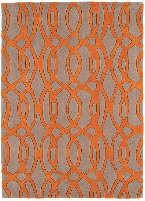 grey and orange rugs matrix wire orange grey thick wool rug max37