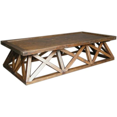 x coffee table antique door x coffee table at 1stdibs