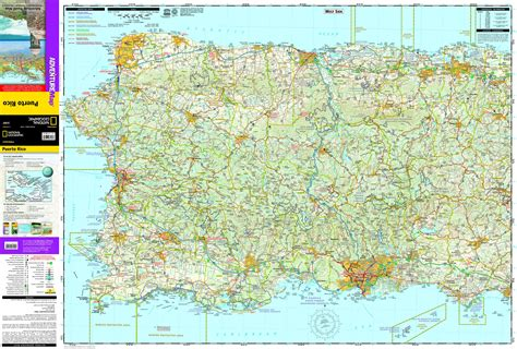 printable puerto rico road map puerto rico road map map