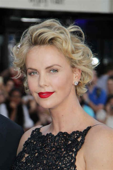 short old fashioned haircuts charlize theron sporting an hairstyles charlize theron short curly hairstyle
