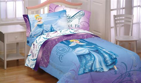 Disney Cinderella Bed Set 4pc Disney Cinderella Glass Slipper Bedding Set