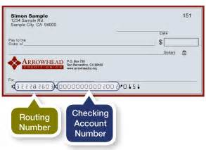 Routing Number Arrowhead Credit Union Routing Number Arrowhead Credit Union